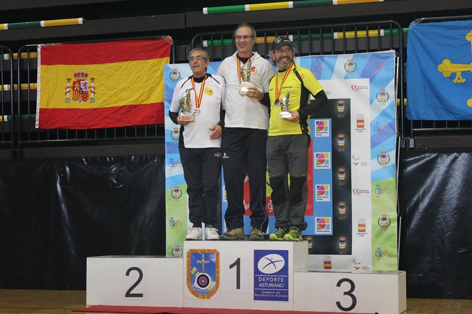 Campeones del Campeonato de España Arco Desnudo en Sala 2016 (Langreo - Asturias)